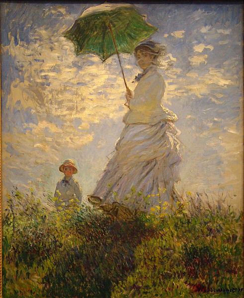 La promenade by Claude Monet.